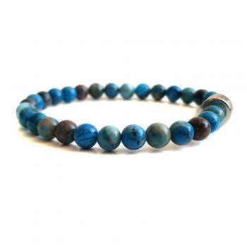 Dames Armband Blauw Agaat 6mm