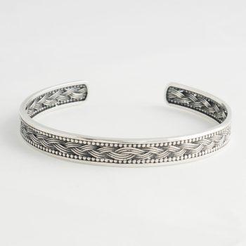 Dames Armband Braid Cuff Zilver