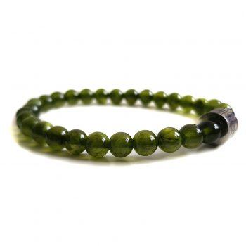 Dames Armband Donker Groen Jade 6mm