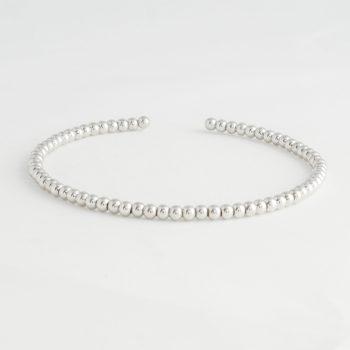 Dames Armband Dots Cuff Zilver