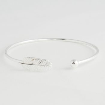 Dames Armband Feather Cuff Zilver