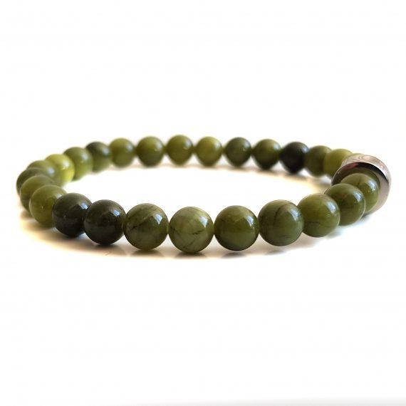 Dames Armband Groen Jade 6mm
