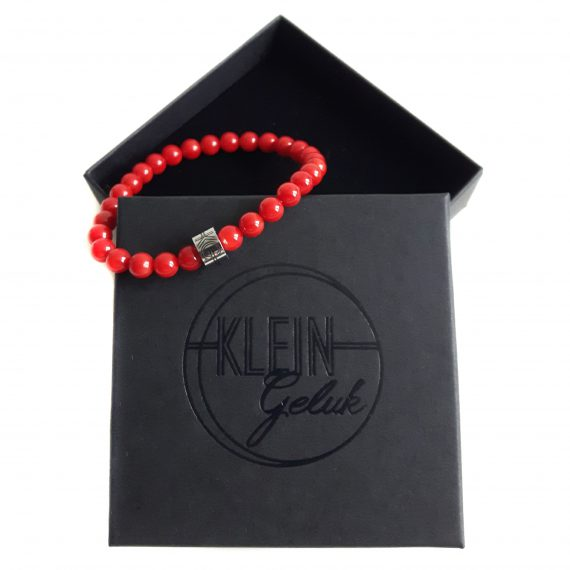 Dames Armband Koraal 6mm Cadeau
