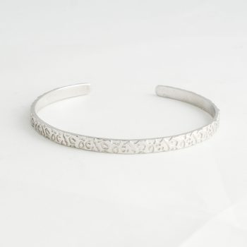 Dames Armband Panther Print Cuff Small Zilver