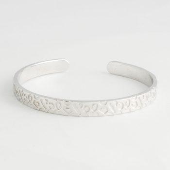 Dames Armband Panther Print Cuff Zilver
