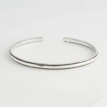 Dames Armband Plain Cuff Small Zilver