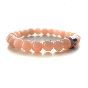 Dames Armband Roze Agaat