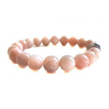 Dames Armband Roze Maansteen
