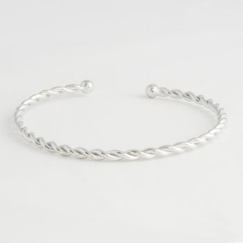 Dames Armband Twisted Cuff Zilver