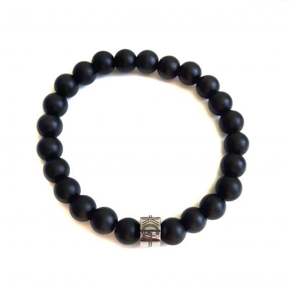 Dames Armband Zwart Mat Onyx
