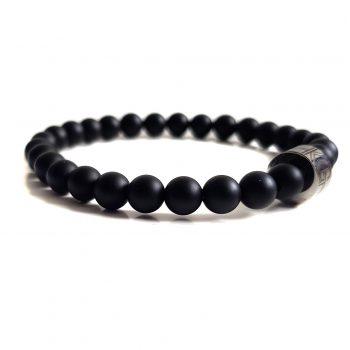 Dames Armband Zwart Mat Onyx 6mm