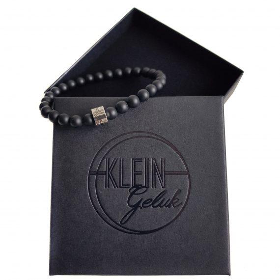 Dames Armband Zwart Mat Onyx 6mm Cadeau