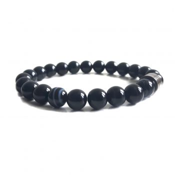 Dames Armband Zwart Obsidiaan
