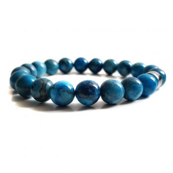 Heren Armband Blauw Agaat