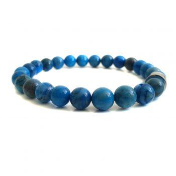 Heren Armband Blauw Agaat 8mm