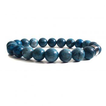 Heren Armband Blauw Jaspis