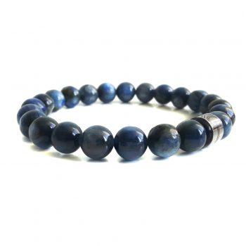 Heren Armband Blauw Kyaniet