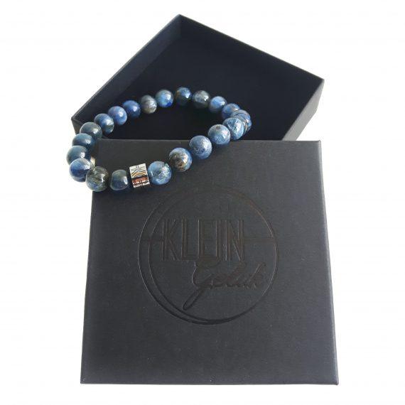 Heren Armband Blauw Kyaniet Cadeau