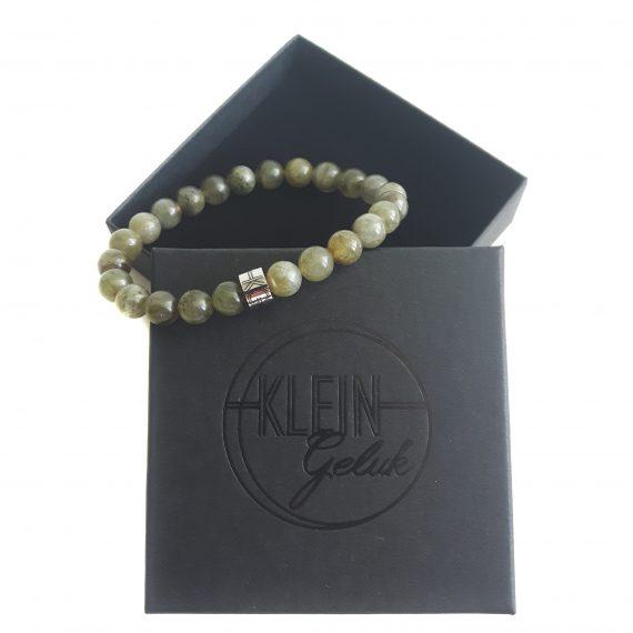 Heren Armband Groen Labradoriet Cadeau