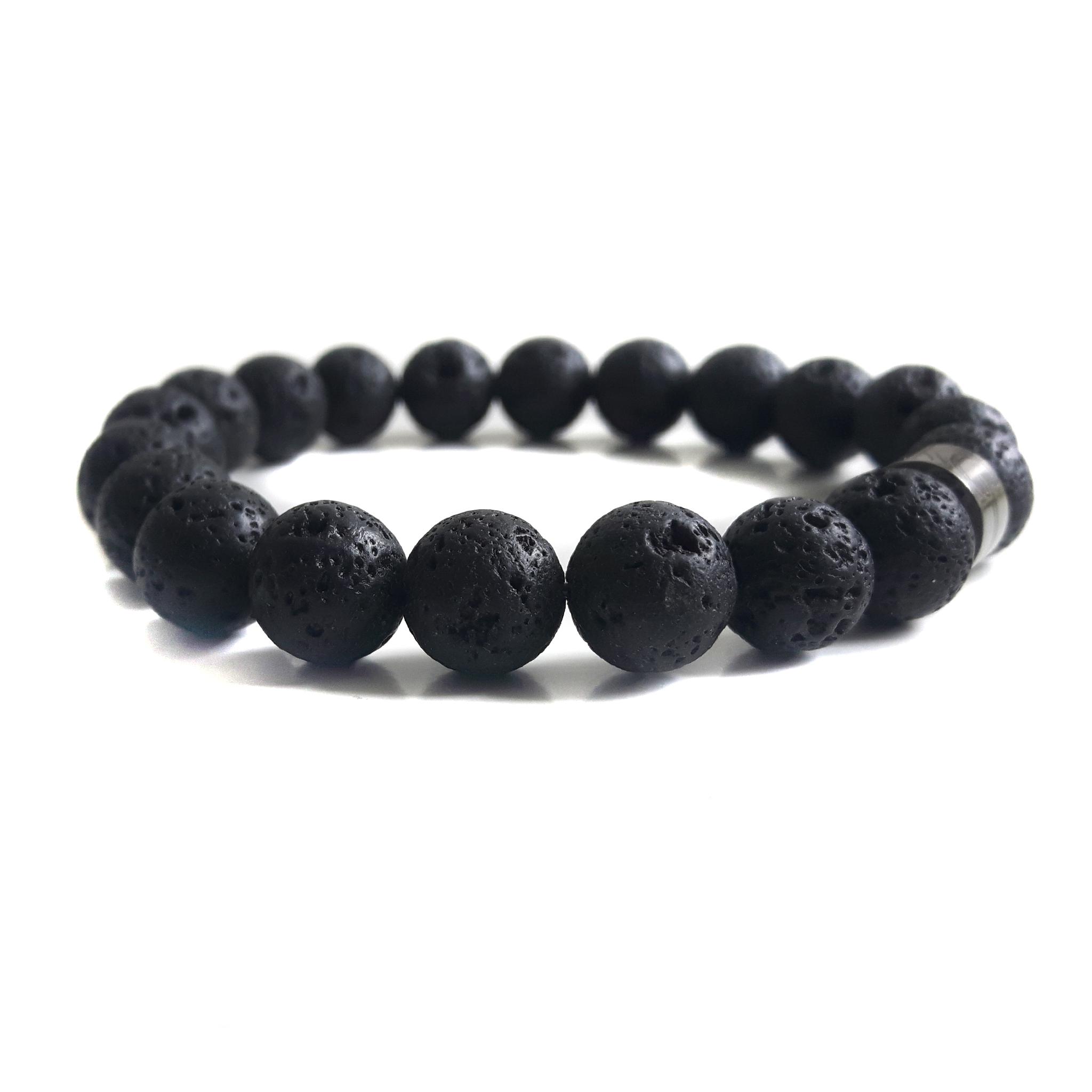 Super Heren Armband Lavasteen - Natuursteen - KG-Bracelets - Bestel nu! &EJ37