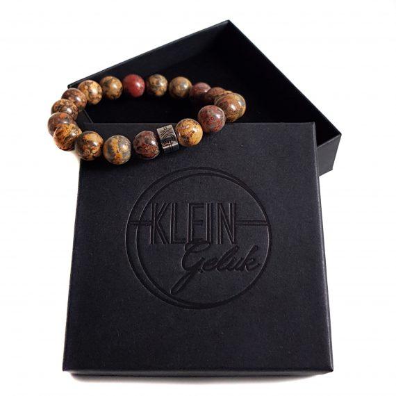 Heren Armband Luipaard Jaspis Cadeau