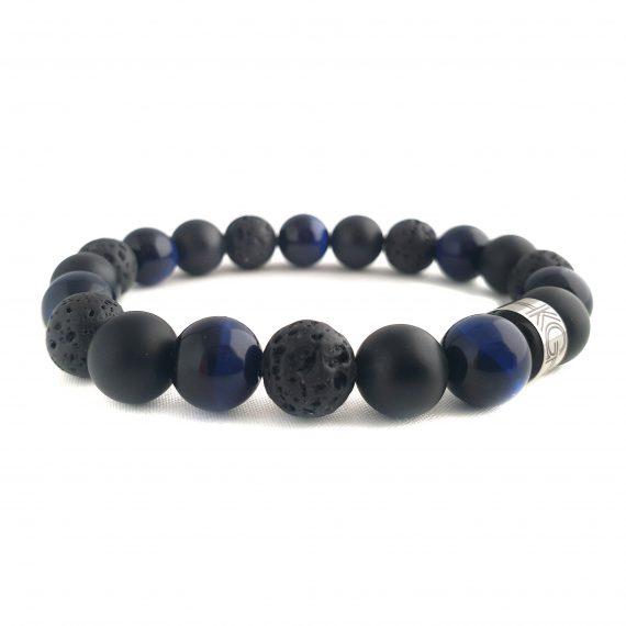 Heren Armband Mix Zwart-Blauw