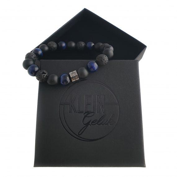 Heren Armband Mix Zwart-Blauw Cadeau