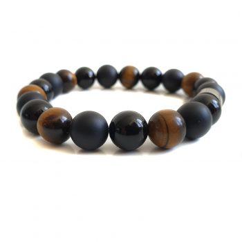 Heren Armband Mix Zwart-Bruin