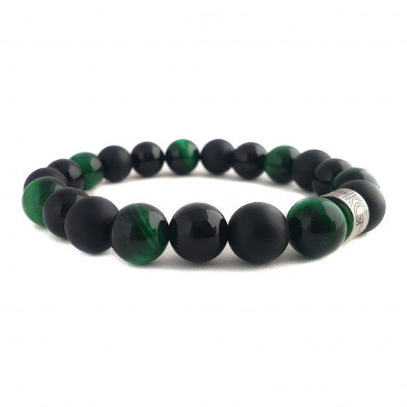 Heren Armband Mix Zwart-Groen