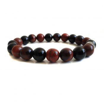 Heren Armband Mix Zwart-Rood
