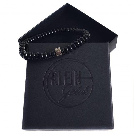 Heren Armband Onyx Rondel 8mm Cadeau